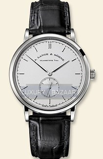 Saxonia (WG / Silver / Leather Strap)