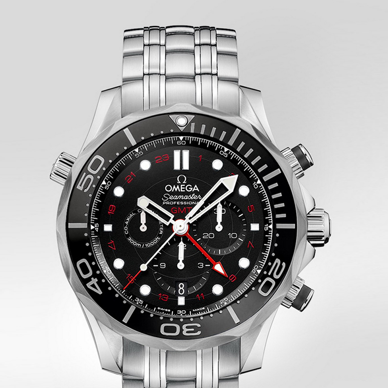 Seamaster Diver 300 m Co-Axial GMT Chronograph 44 mm 212.30.44.52.01.001 (Stainless Steel)