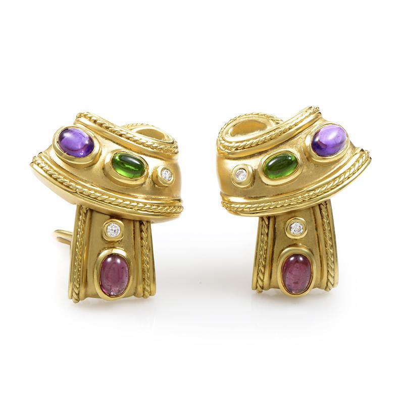 SeidenGang 18K Yellow Gold Gemstone Earrings