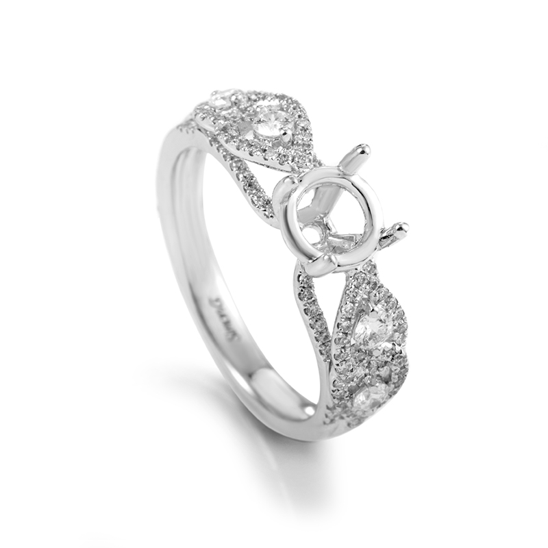 18K White Gold Diamond Engagement Ring Mounting 21717855W