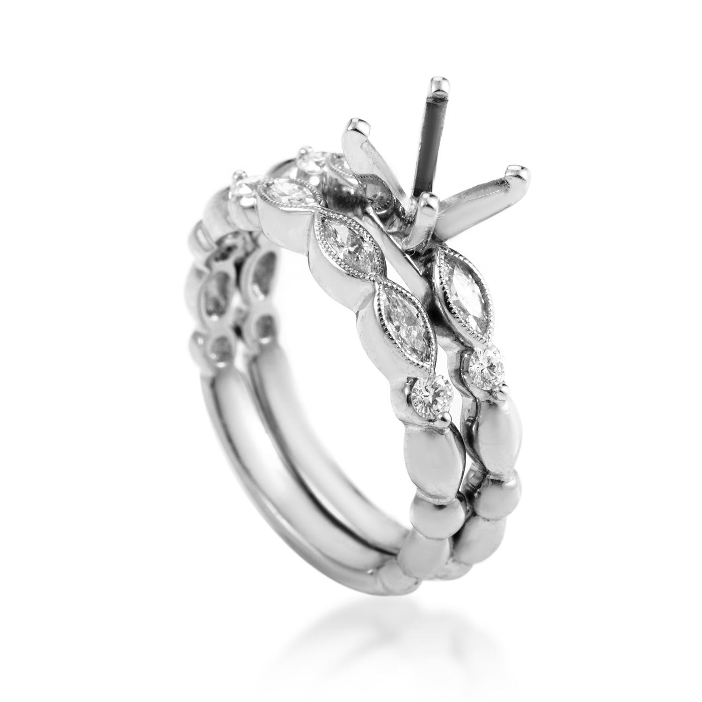Platinum & Diamond Bridal Mounting Set NR178