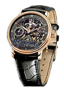 Specialites Tourbillon Skeleton (RG / Black / Leather)