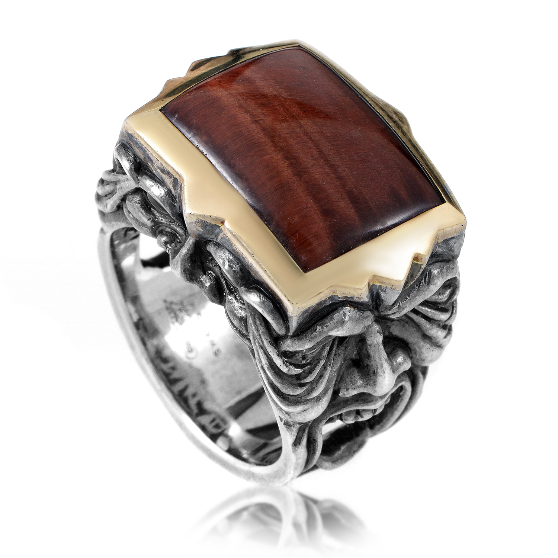 London Calling Silver Gold-Plated Gargoyle Men's Ring 3010624006