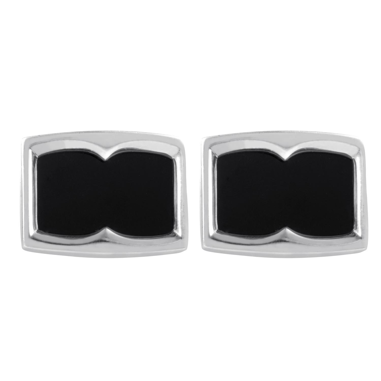 Mens Sterling Silver & Onyx Cufflinks 3011310