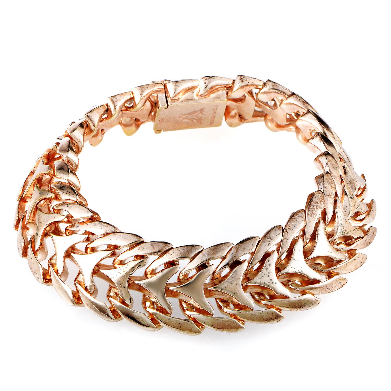Thorn Gold-Plated Sterling Silver Ram Link Spine Bracelet