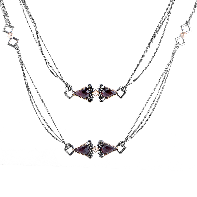 Women's Superstud Sterling Silver & Quartz Necklace 3012792001