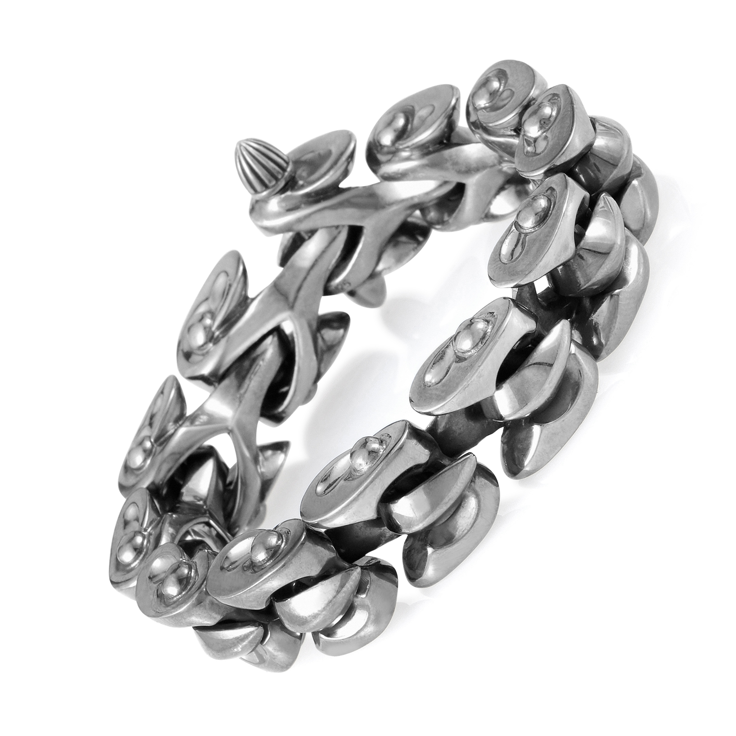 Sterling Silver Interlocking Rivet Bracelet 3013340001