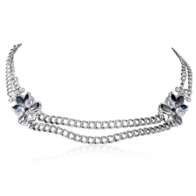 Pop Superstud Sterling Silver Multi-Gem Necklace