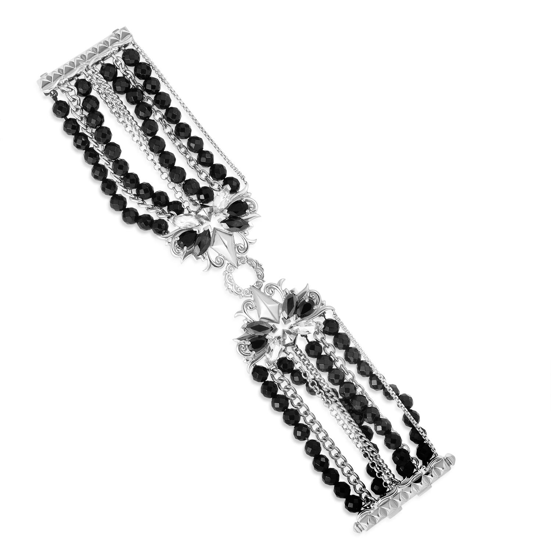 Pop Superstud Sterling Silver Black Gem Bracelet 3013652