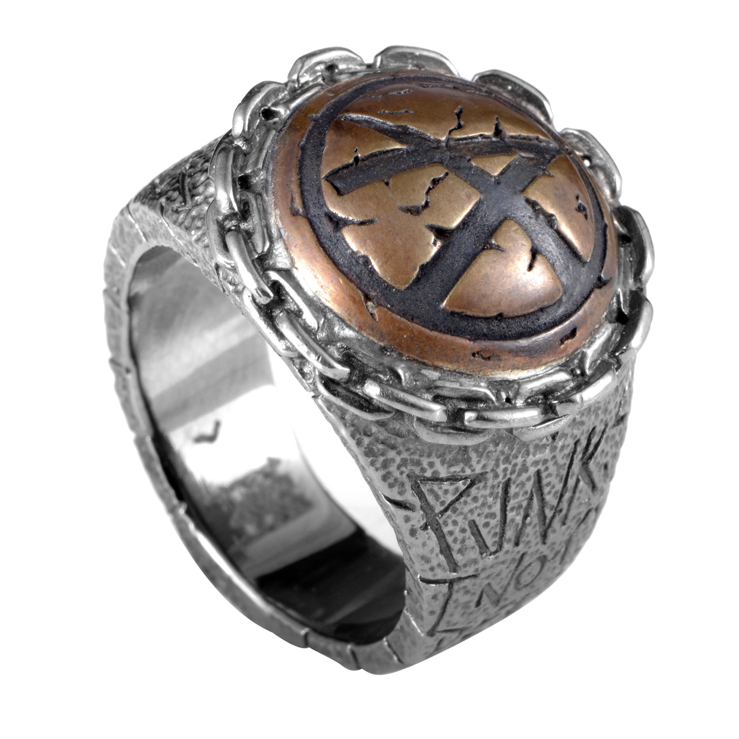 Sterling Silver & Bronze Inlay Ring