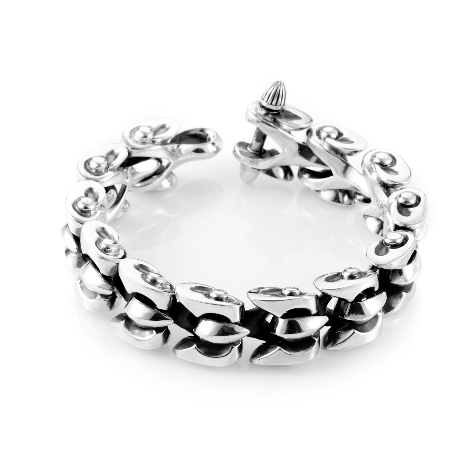 Thorn Men's Sterling Silver Rivet Men's Bracelet 3005113