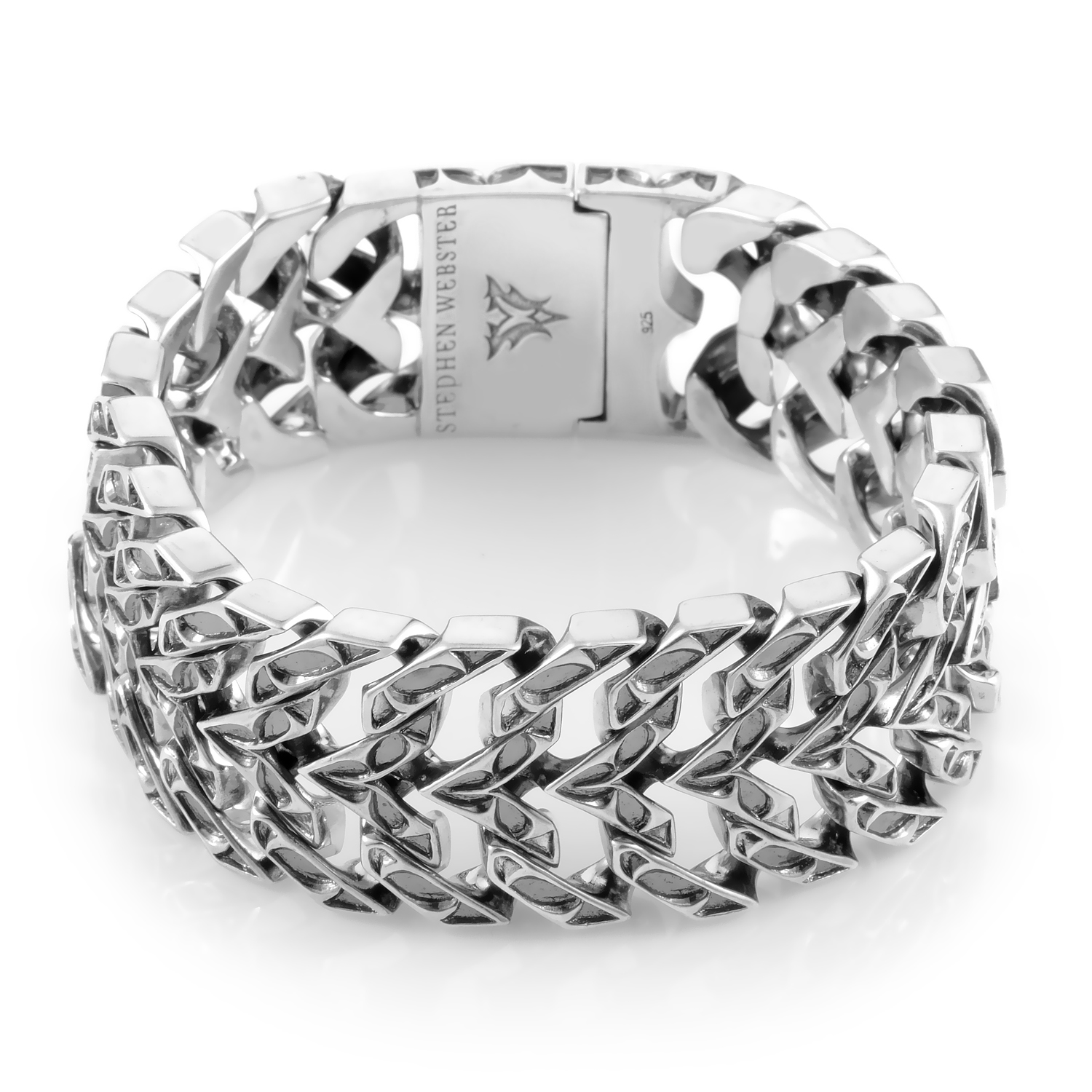 Thorn Sterling Silver Double Curb Bracelet