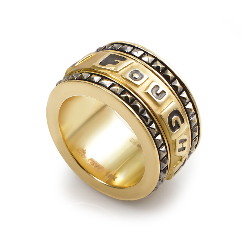 I Fought The Law 18K Yellow Gold Band Ring 3008188007
