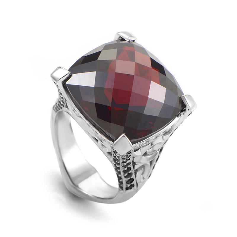 18K White Gold Multi-Gemstone Cushion Ring 3010207001