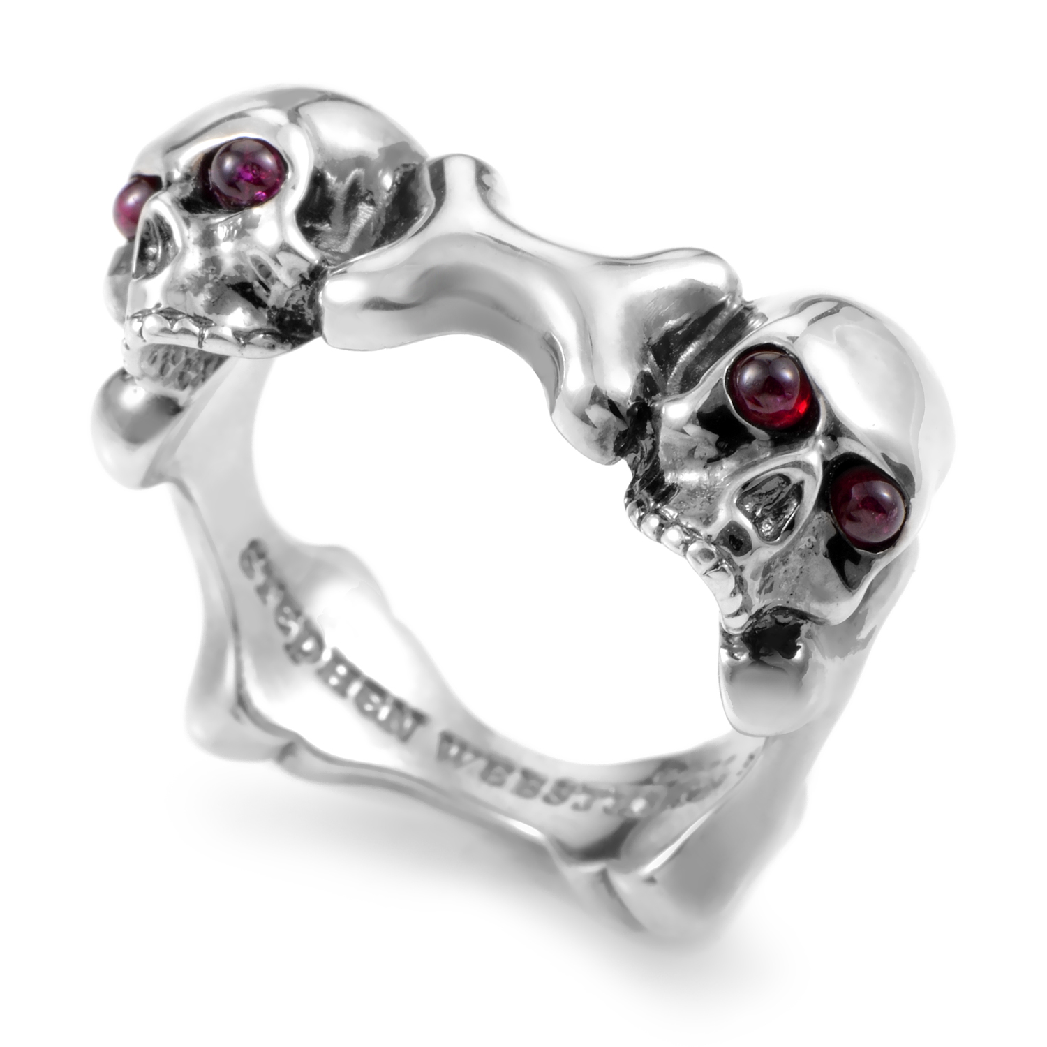 Skull and Bones Sterling Silver Ruby Ring 3005310