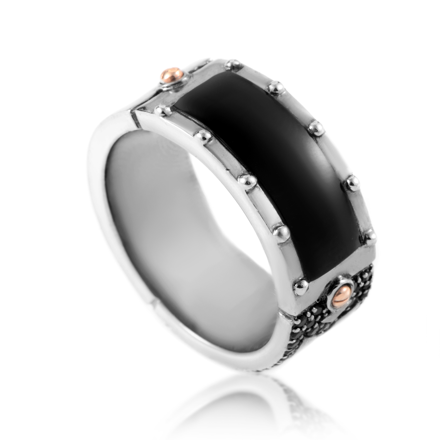Tokyo Calling Gold-Plated Sterling & Onyx Men's Ring 3012265007