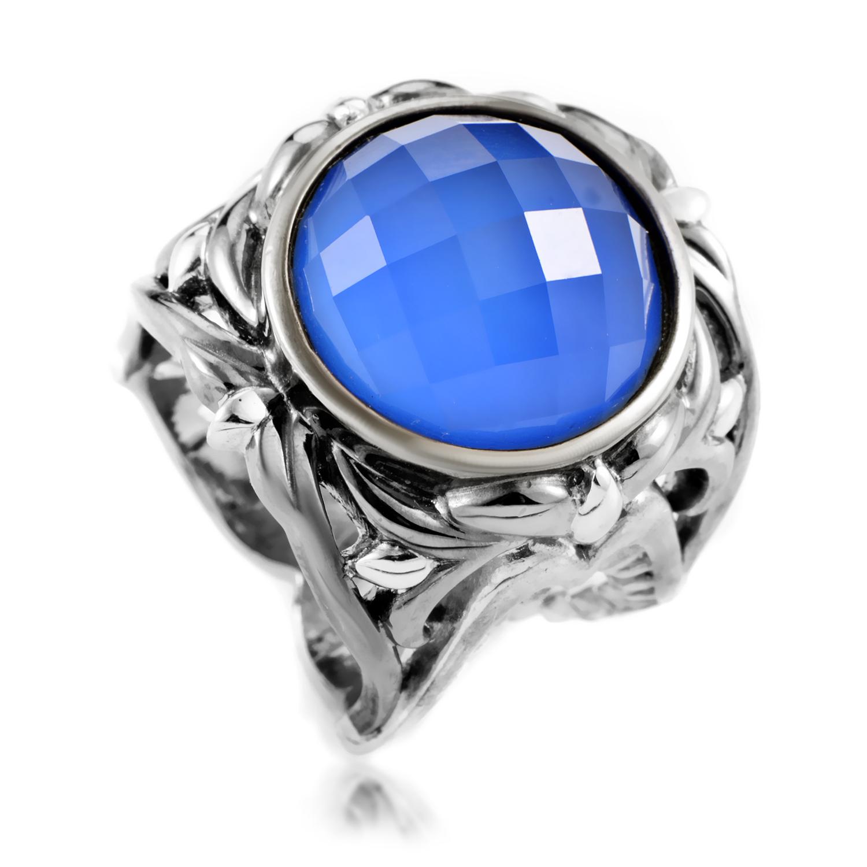 Les Dents de la Mer Women's Sterling Silver Agate & Quartz Ring