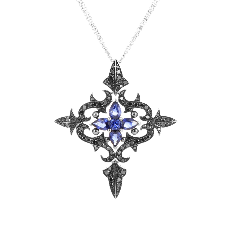 La Belle Epoque 18K White Gold Diamond & Sapphire Necklace