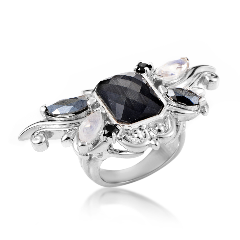 Pop Superstud Sterling Silver Gemstone Ring 3013626003MQ