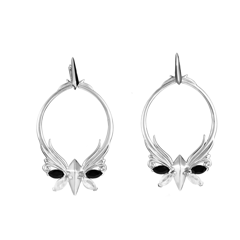Pop Superstud Sterling Silver & 14K Yellow Gold Gemstone Earrings
