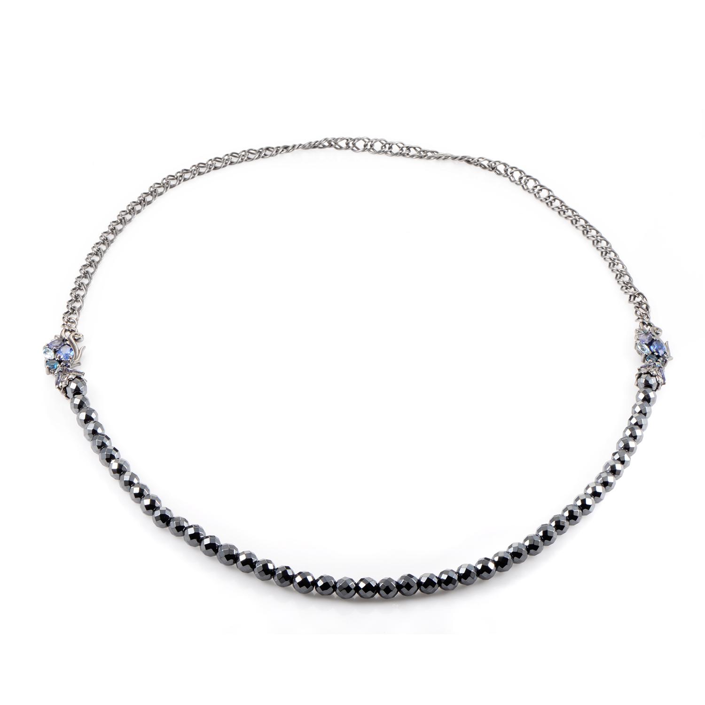 Pop Superstud Sterling Silver Blue Gemstone Necklace