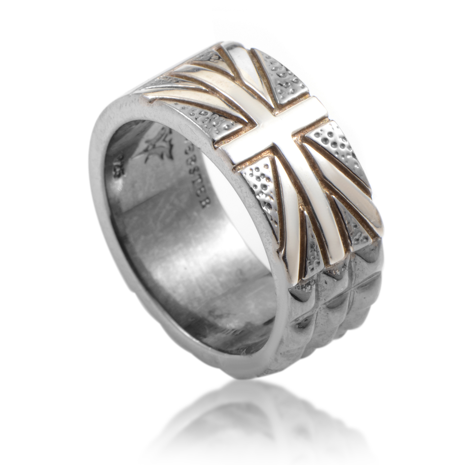 Alchemy in the UK Silver & Onyx Union Jack Ring 3013704003