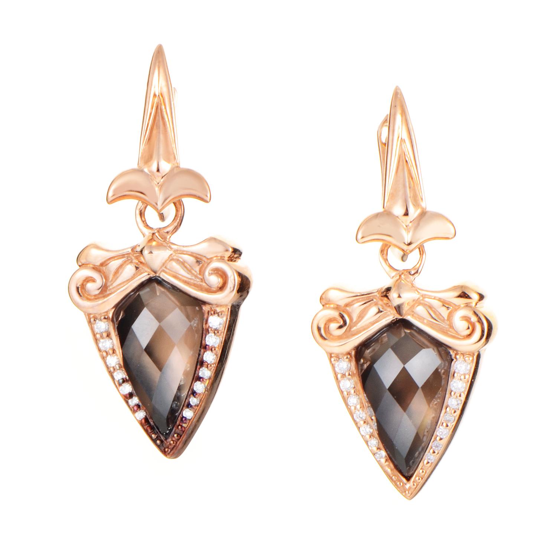 Baroque Superstud Rose Gold Plated Sterling Silver Gemstone Earrings
