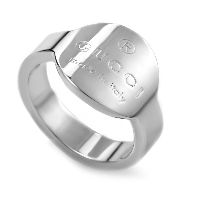 Sterling Silver Curved Signet Ring 148306J84008106