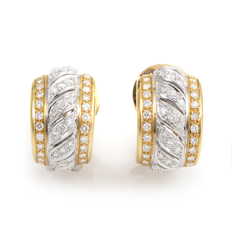 suarez 18k multi gold huggie earrings ebay
