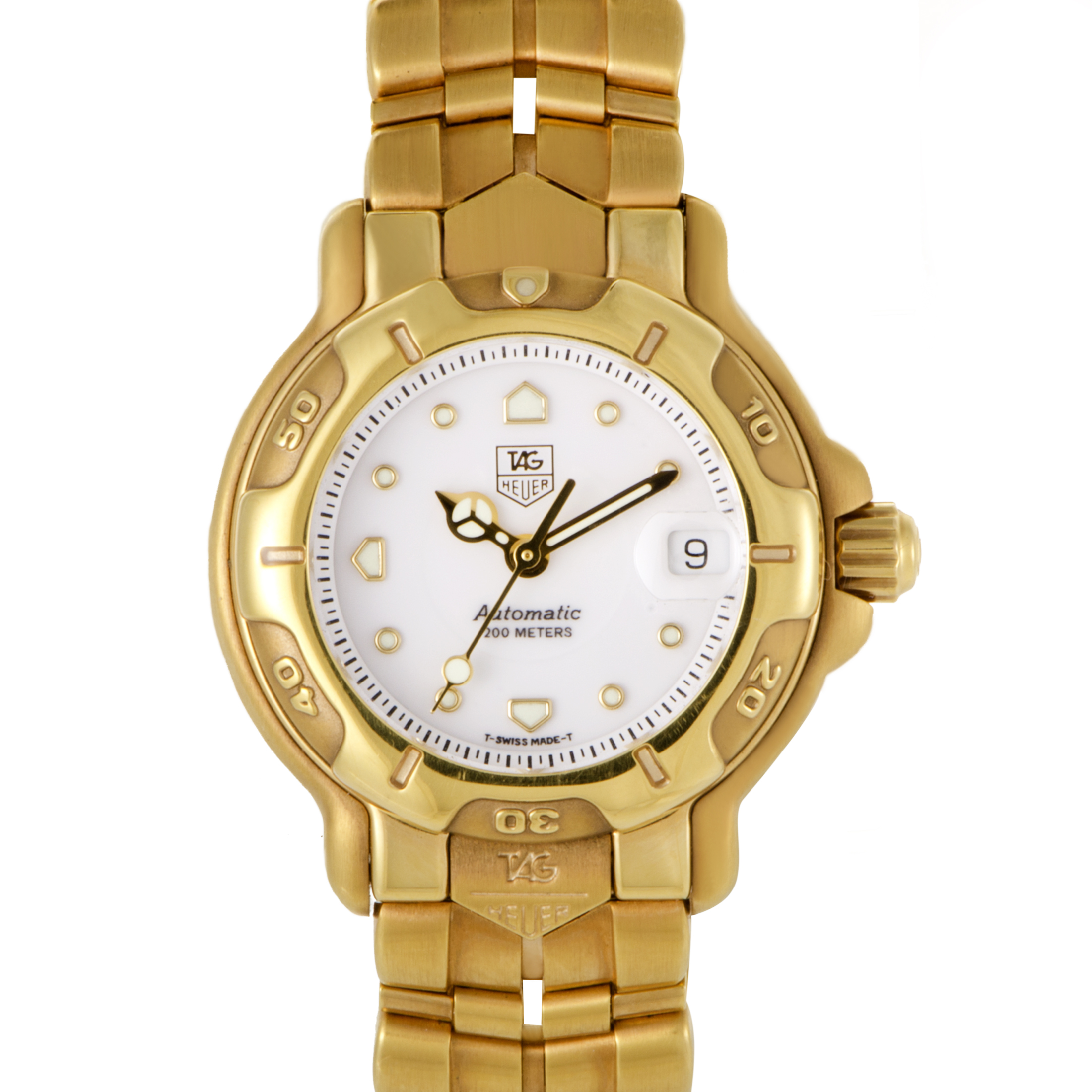 Tag Heuer Womens 18K Yellow Gold Quartz Watch DIA003220 WH23