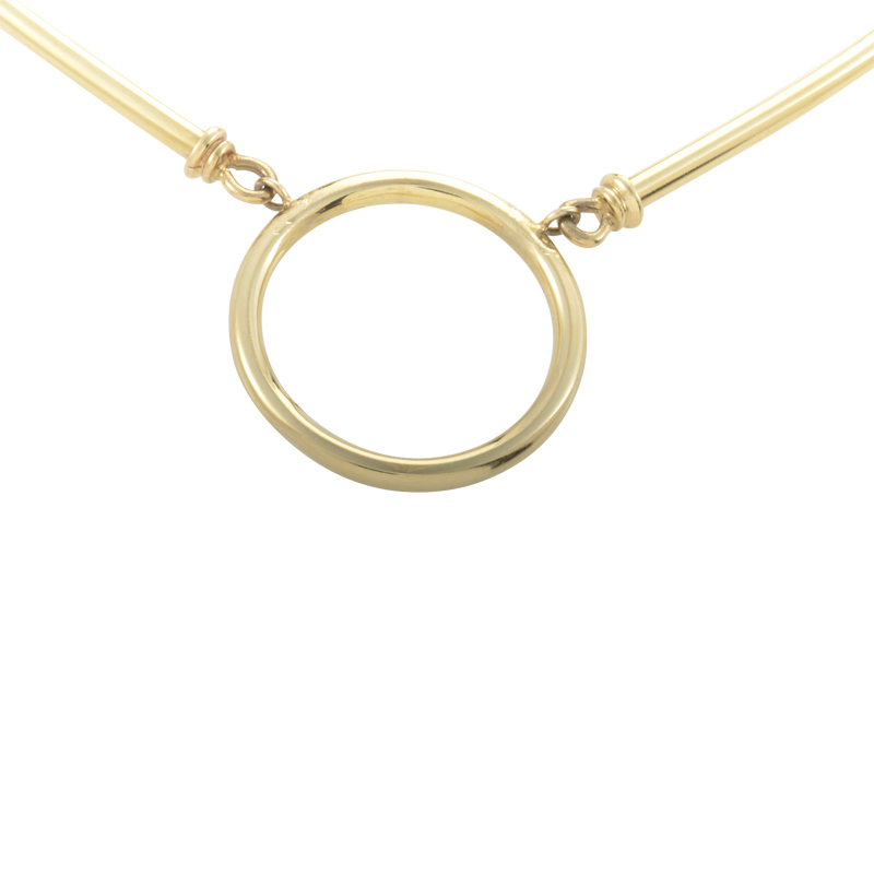 Tiffany & Co. Women's 14K Yellow Gold Hoop Necklace