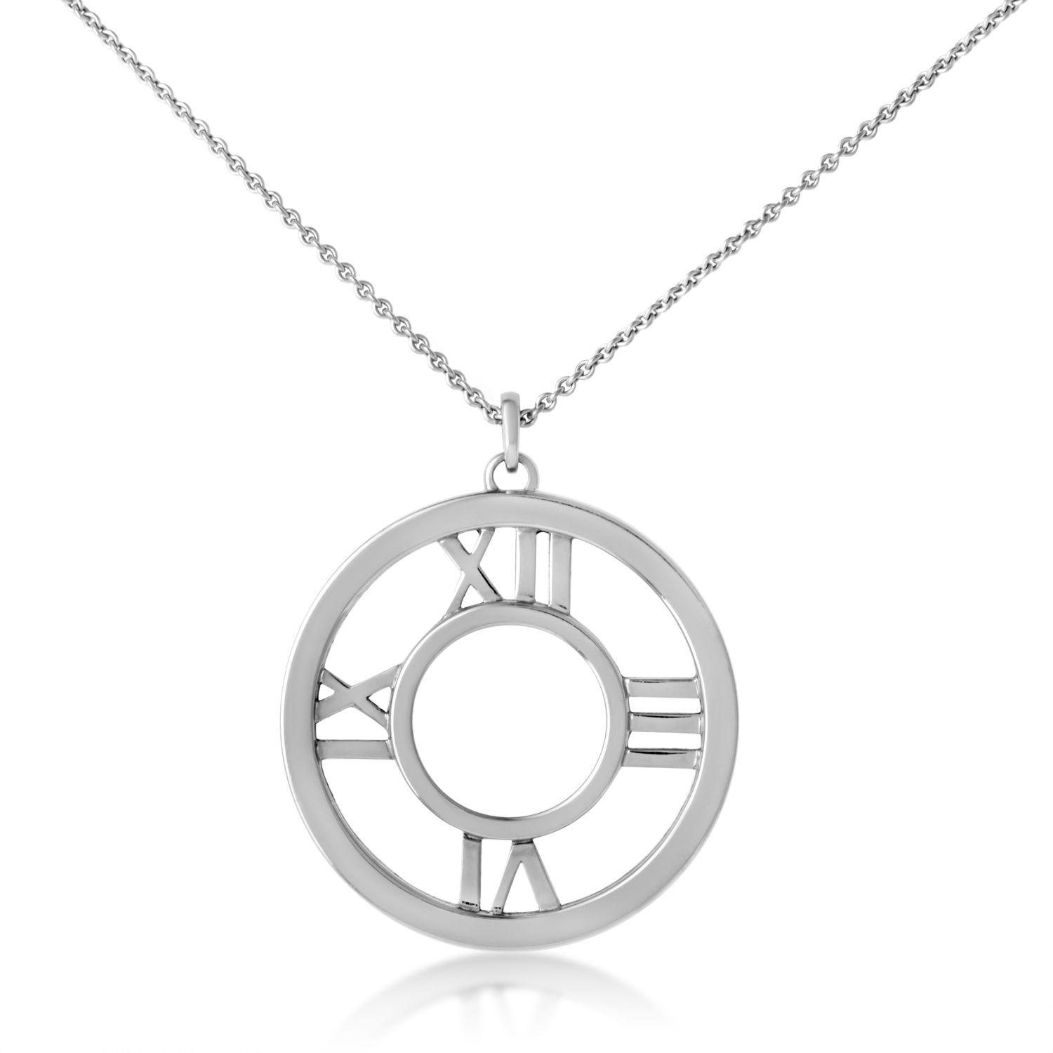 Tiffany & Co. Women's 18K White Gold Atlas Pendant Necklace