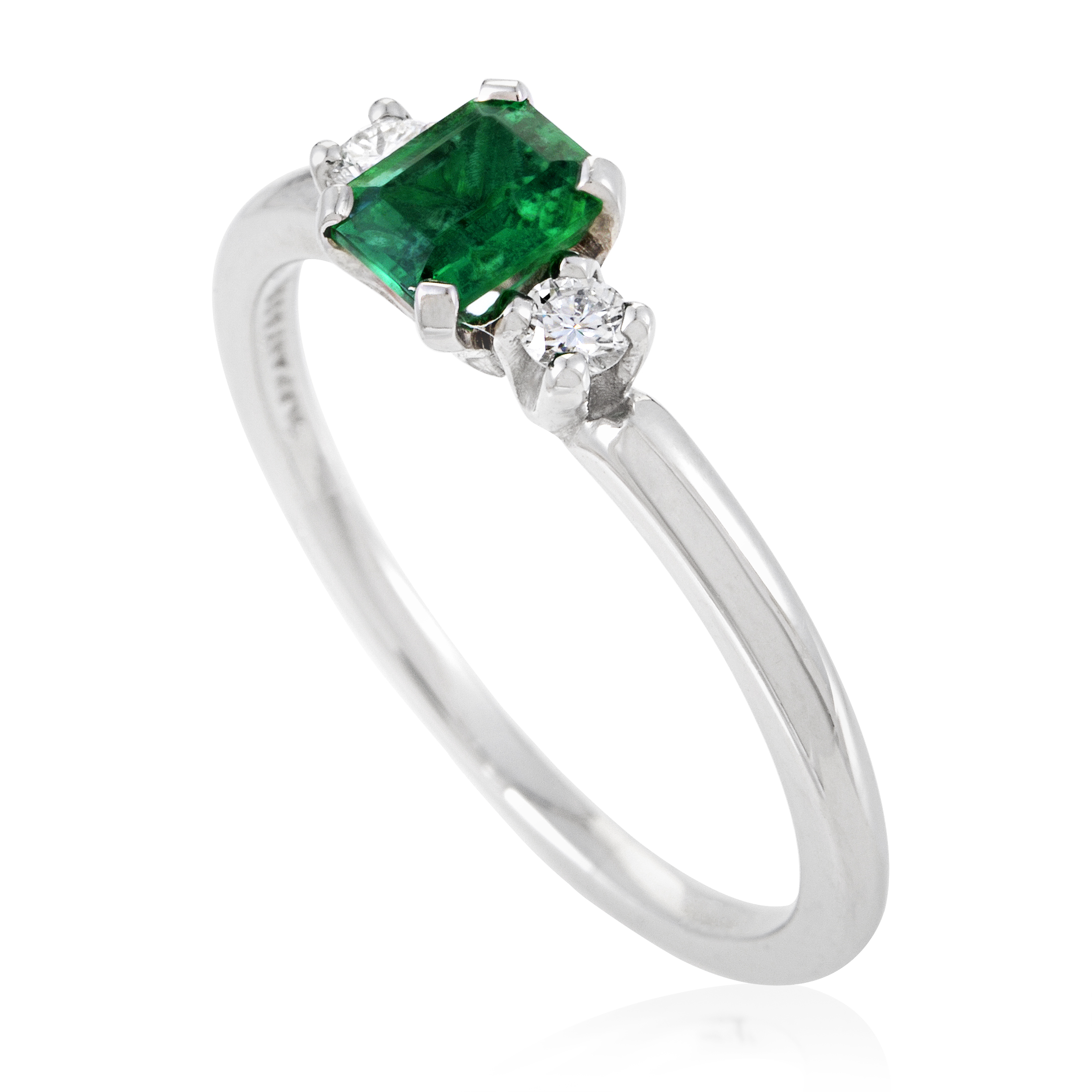 Tiffany & Co. Women's Platinum Diamond & Emerald Ring