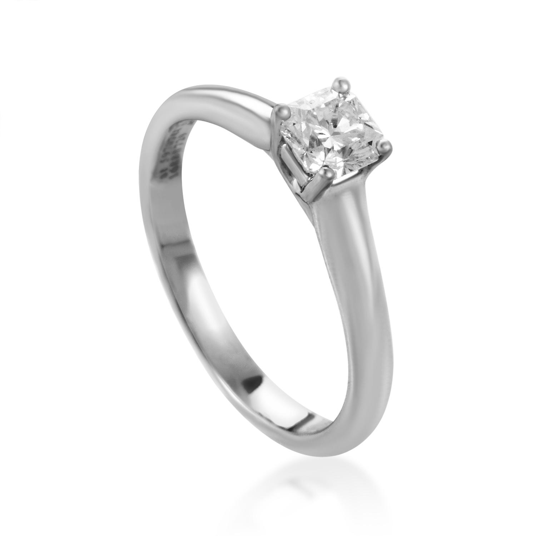 Tiffany & Co. Platinum .47ct Lucida Diamond Solitaire Engagement Ring