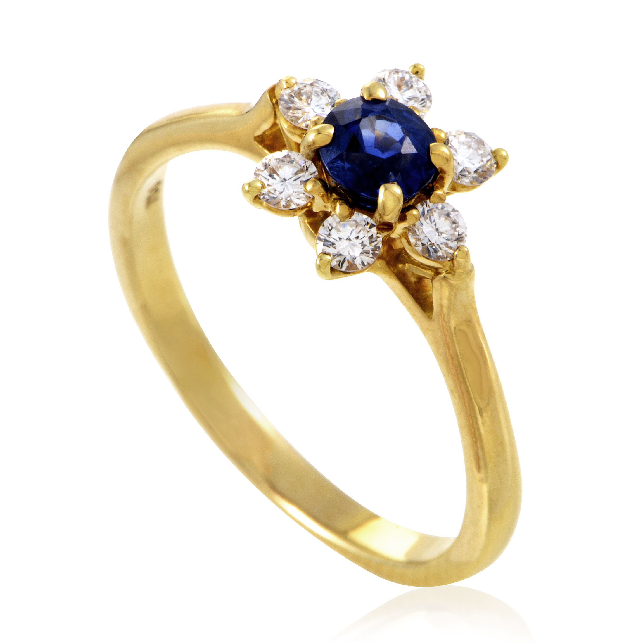 Tiffany & Co. Women's 18K Yellow Gold Diamond & Sapphire Flower Ring