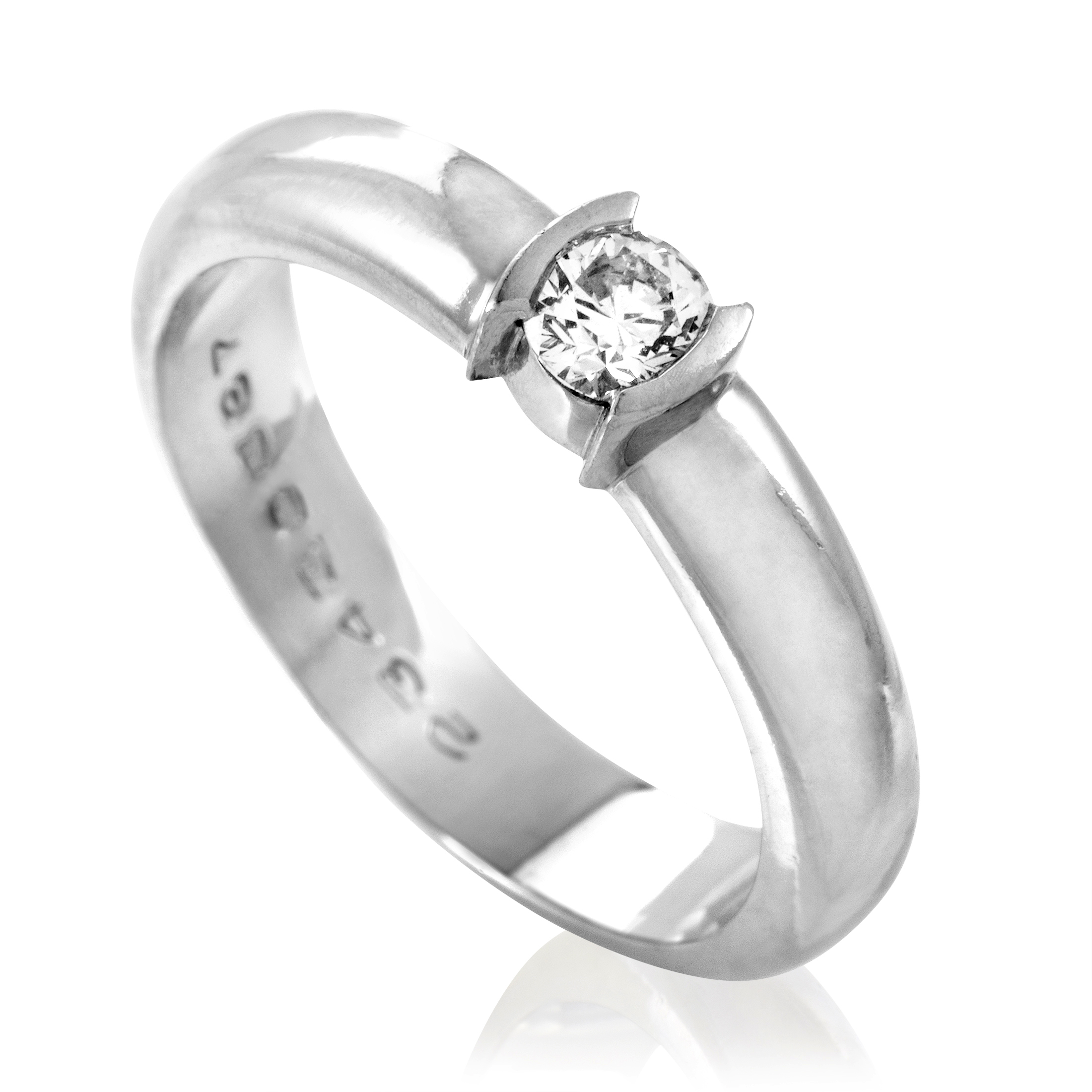 Tiffany & Co. Etoile Women's Platinum & .21ct Diamond Solitaire Engagement Ring