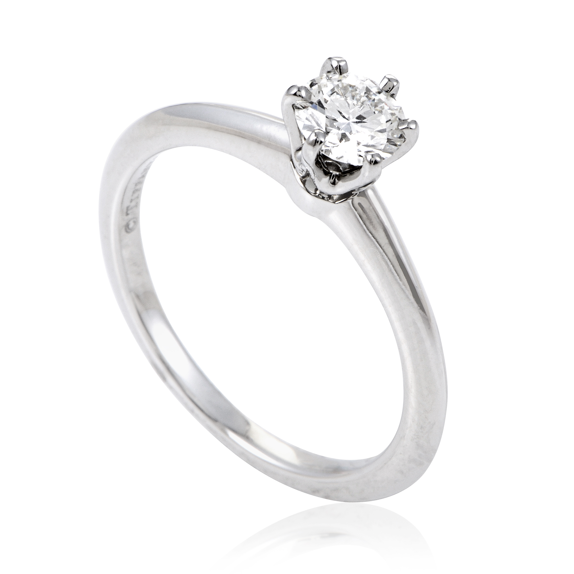 Tiffany & Co. Women's Platinum .43ct Diamond Solitaire Engagement Ring