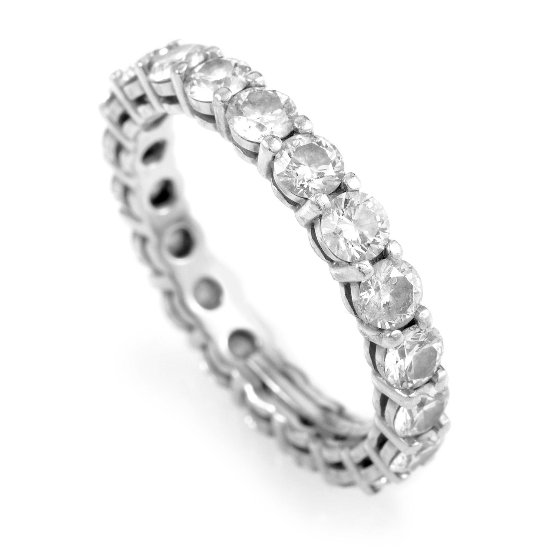 Tiffany & Co. Women's Platinum Diamond Eternity Band Ring