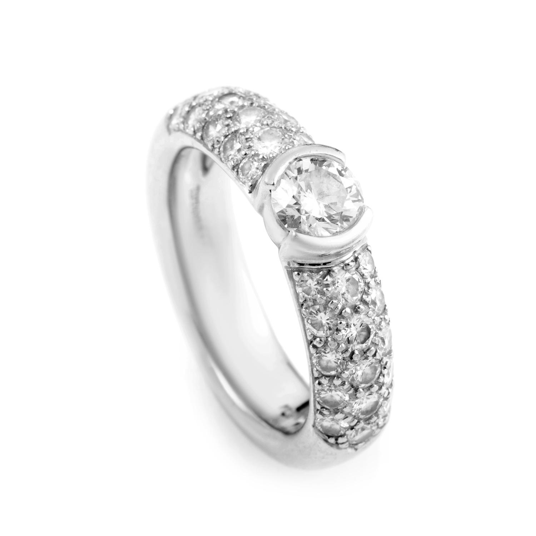 Tiffany & Co. Etoile Platinum & Diamond Engagement Ring