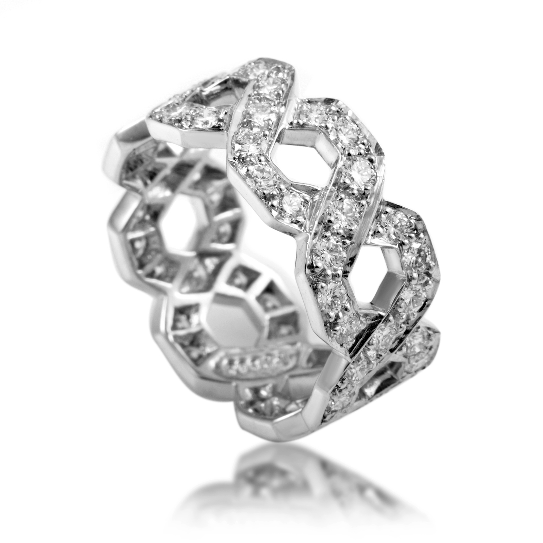 Tiffany & Co. Platinum and Diamond Wedding Band