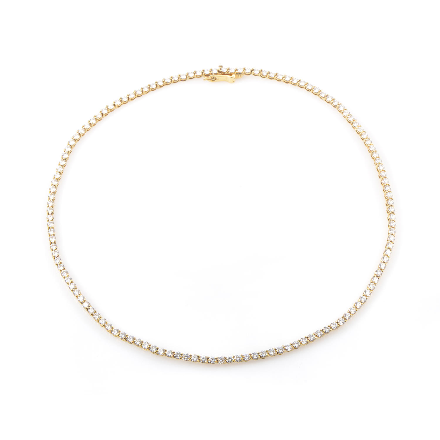 Tiffany & Co. 18K Yellow Gold Diamond Tennis Necklace