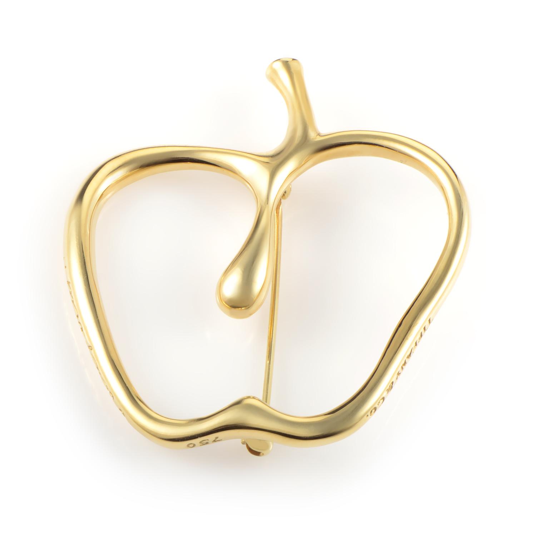 Tiffany & Co. Women's 18K Yellow Gold Openwork Apple Brooch AK1B3591