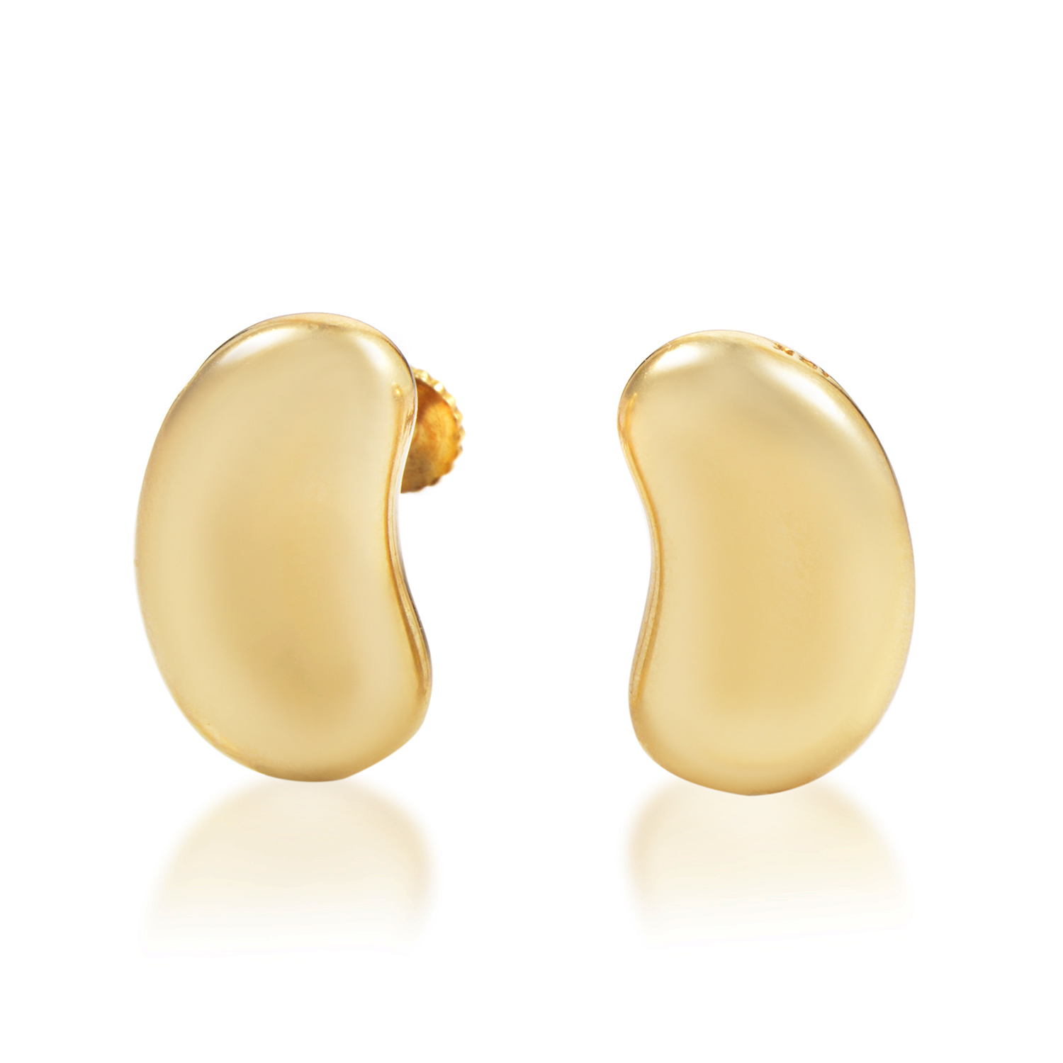 Tiffany & Co. Elsa Peretti Women's Small 18K Yellow Gold Bean Earrings