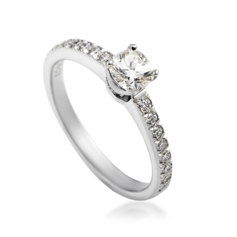Tiffany & Co. Women's Platinum Lucida Diamond Engagement Ring
