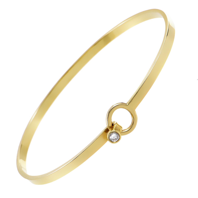 Tiffany & Co. Women's 18K Yellow Gold Diamond Hook-and-Eye Bangle Bracelet