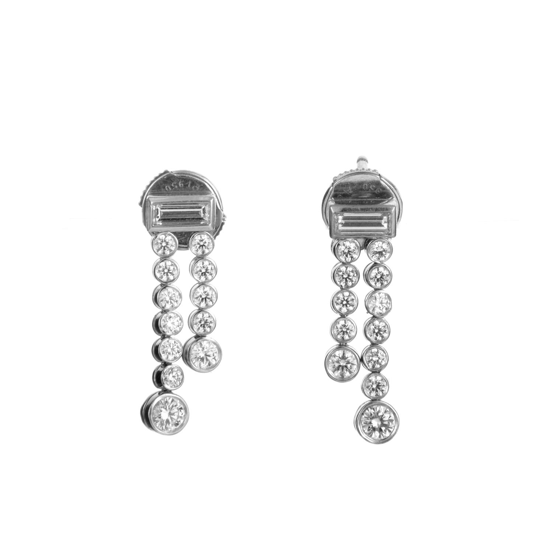 Tiffany & Co. Jazz Women's Platinum Diamond Earrings