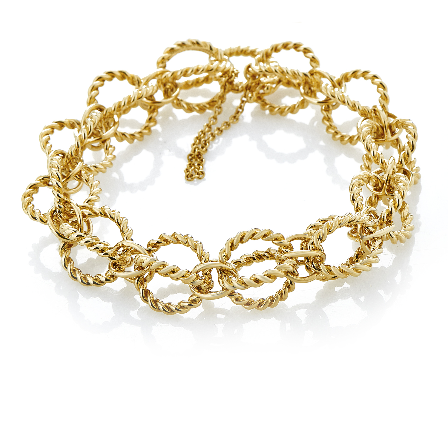 Tiffany & Co. Schlumberger Women's 18K Yellow Gold Cage Link Bracelet
