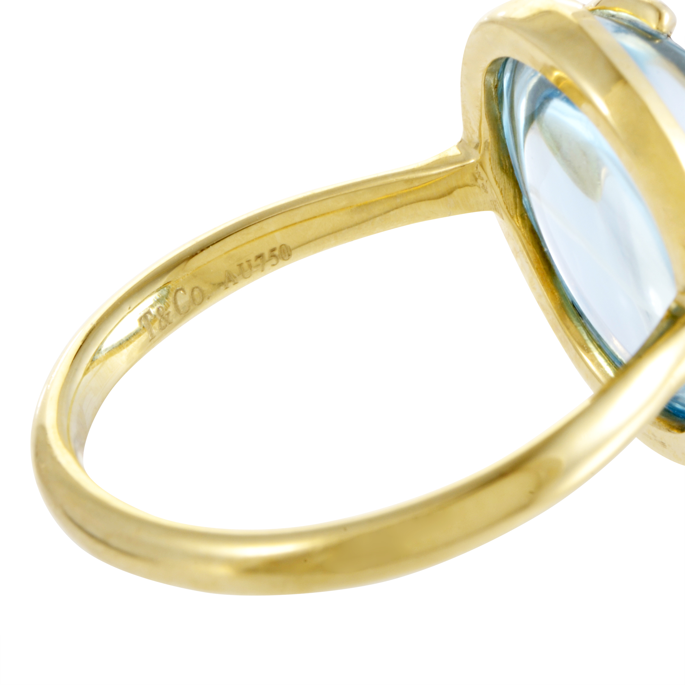 Tiffany Amp Co Paloma Picasso 18k Yellow Gold Topaz Olive
