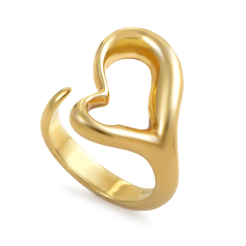 Tiffany & Co. Elsa Peretti Women's 18K Yellow Gold Open Heart Ring