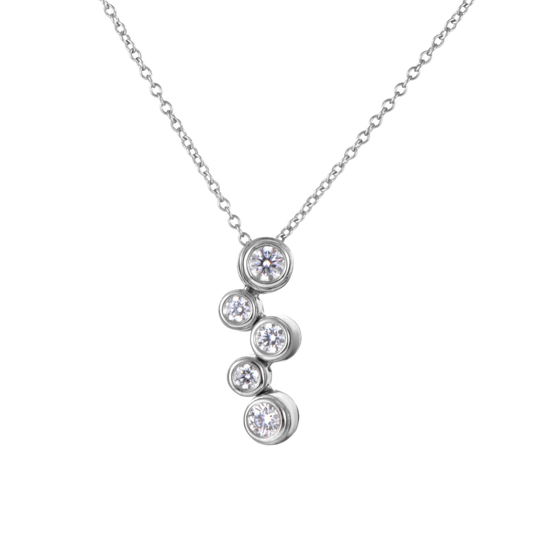 Tiffany & Co. Women's Bubble Platinum & Diamond Pendant Necklace